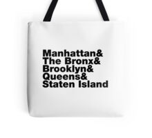 Five Boroughs ~ New York City Tote Bag