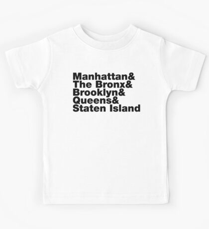 Five Boroughs ~ New York City Kids Tee
