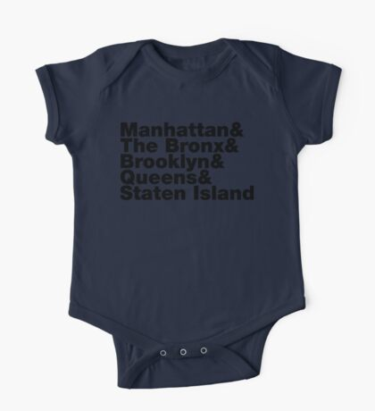 Five Boroughs ~ New York City One Piece - Short Sleeve