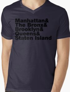 Five Boroughs ~ New York City Mens V-Neck T-Shirt