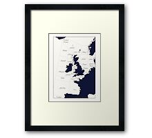 Shipping Forecast Framed Print