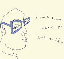 Cornflower Blue Specs- i don't know where you got such an idea. by Jaelah