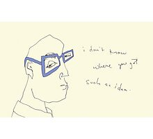 Cornflower Blue Specs- i don't know where you got such an idea. Photographic Print