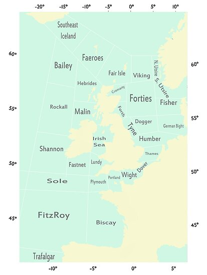 Shipping Forecast- Seaside colours by beebrady