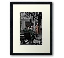 2010 09 04 Vilnius 3, Pigeon man Framed Print