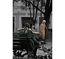 2010 09 04 Vilnius 3, Pigeon man Photographic Print