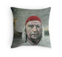 Man in a Red Bandana (Acrylic) Throw Pillow