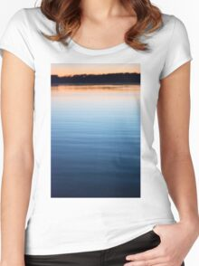The Tranquility of Dusk Women's Fitted Scoop T-Shirt