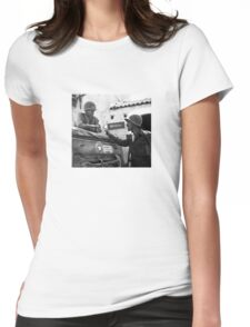 General Patton In Sicily  Womens Fitted T-Shirt