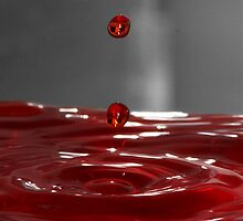 Red Droplet  by Evette Lisle
