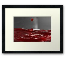 Red Droplet  Framed Print