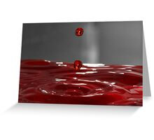Red Droplet  Greeting Card