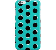 Eclipse polka dot in turquoise iPhone Case/Skin