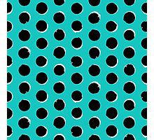 Eclipse polka dot in turquoise Photographic Print