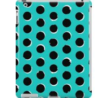 Eclipse polka dot in turquoise iPad Case/Skin
