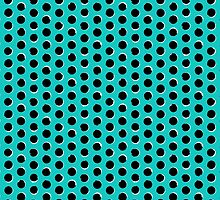 Eclipse polka dot in turquoise by tukkki