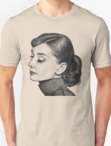 Audrey Hepburn Stippling Portrait Unisex T-Shirt