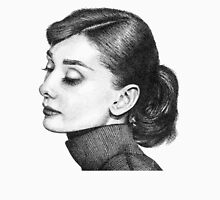 Audrey Hepburn Stippling Portrait Womens Fitted T-Shirt