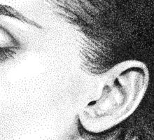Audrey Hepburn Stippling Portrait Sticker