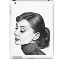 Audrey Hepburn Stippling Portrait iPad Case/Skin