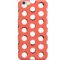 Eclipse polka dot in tropical pink iPhone Case/Skin