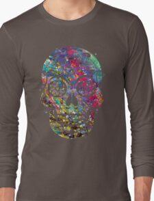 Sugar Skull Watercolor Long Sleeve T-Shirt