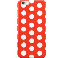 Classic red and white polka dots iPhone Case/Skin