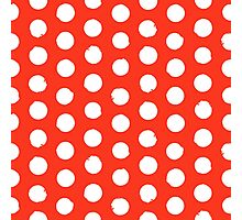 Classic red and white polka dots Photographic Print