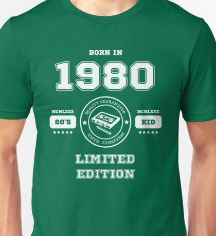 Born in 1980 Unisex T-Shirt
