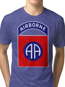 Logo of the Eighty-Second Airborne! Tri-blend T-Shirt