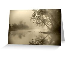 Misty in Sepia Greeting Card