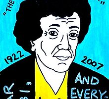Kurt Vonnegut Pop Folk Art by krusefolkart