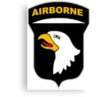 Logo of the SCREAMING EAGLES Airborne Division Canvas Print