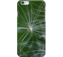 A macro photo of thistle seed with pappus. iPhone Case/Skin