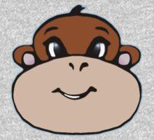 Monkey Face One Piece - Long Sleeve