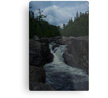 Northern Ontario Waterfall- Pinguisibi Metal Print