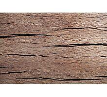 A Macro Photo of Wood Texture Photographic Print