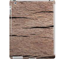 A Macro Photo of Wood Texture iPad Case/Skin