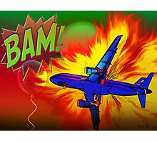 Comic Plane Photographic Print