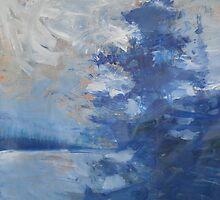Blue Tree Painting the Sky by John Fish