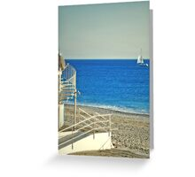A Twisted Blinding Sea (Il mare in salita) Greeting Card