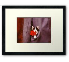 In his pocket Framed Print