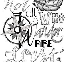 Not All Who Wander Design by Sarah Ludar-Smith