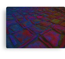 Square Stones Pathway Number 6 Canvas Print
