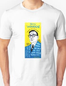 John Wooden Basketball Pop Folk Art Unisex T-Shirt