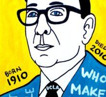 John Wooden Basketball Pop Folk Art Sticker