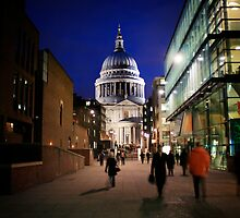 St. Paul's Cathedral by Night by Shir Leen Low