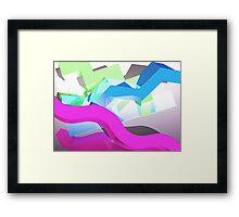3D Geometric 1980s Inspired Piece Framed Print