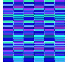 Purple and Blue Geometric Photographic Print
