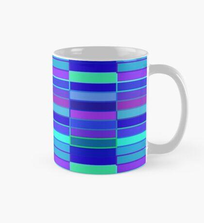 Purple and Blue Geometric Mug